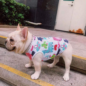 Frenchie World Shop Summer Aquarelle French Bulldog Vest