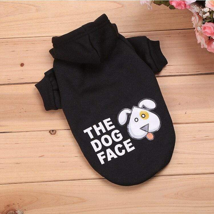 Frenchie World Shop Black / L The Dog Face Hoodie