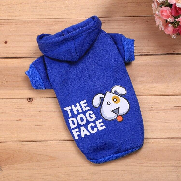 Frenchie World Shop Blue / L The Dog Face Hoodie