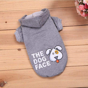 Frenchie World Shop Gray / L The Dog Face Hoodie