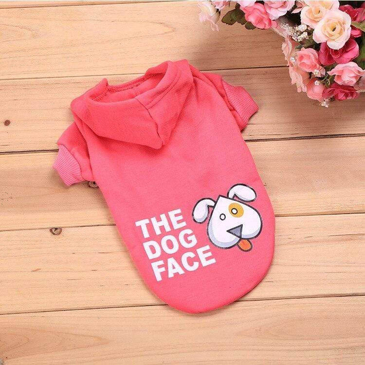 Frenchie World Shop Pink / L The Dog Face Hoodie