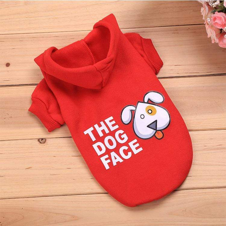 Frenchie World Shop Red / L The Dog Face Hoodie