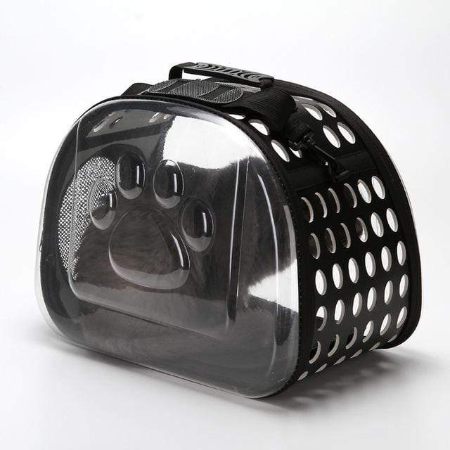 Frenchie World Shop Dog Accessories black / 42x26x35cm Transparent Dog Carrier