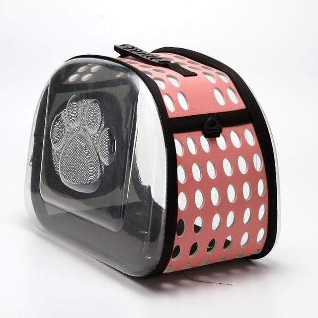 Frenchie World Shop Dog Accessories pink / 42x26x35cm Transparent Dog Carrier
