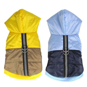 Frenchie World Shop Two-Tone Reflective Waterproof Dog Jacket