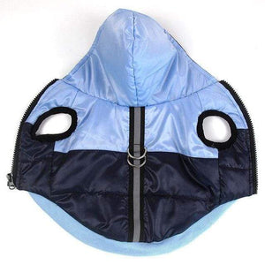 Frenchie World Shop Blue / XS Two-Tone Reflective Waterproof Dog Jacket