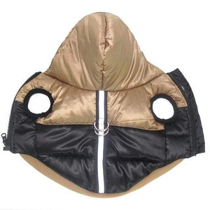 Frenchie World Shop Bronze / XS Two-Tone Reflective Waterproof Dog Jacket