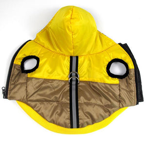 Frenchie World Shop Yellow / XS Two-Tone Reflective Waterproof Dog Jacket