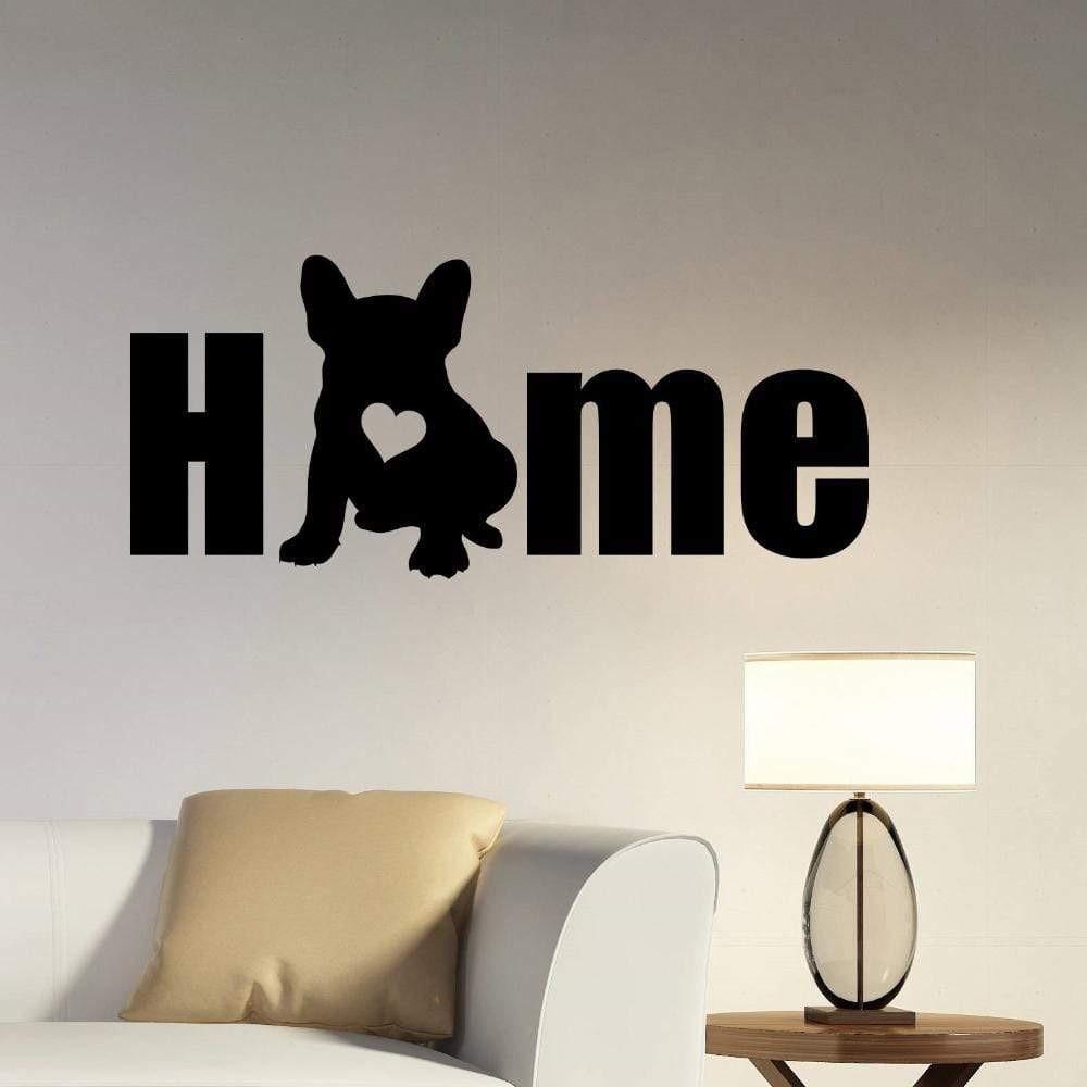 Frenchie World Shop Human accessories H622 Black / 57x22cm Vinyl French Bulldog Wall Sticker