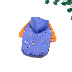 Frenchie World Shop Blue / L Violet & Orange French Bulldog Hoodie