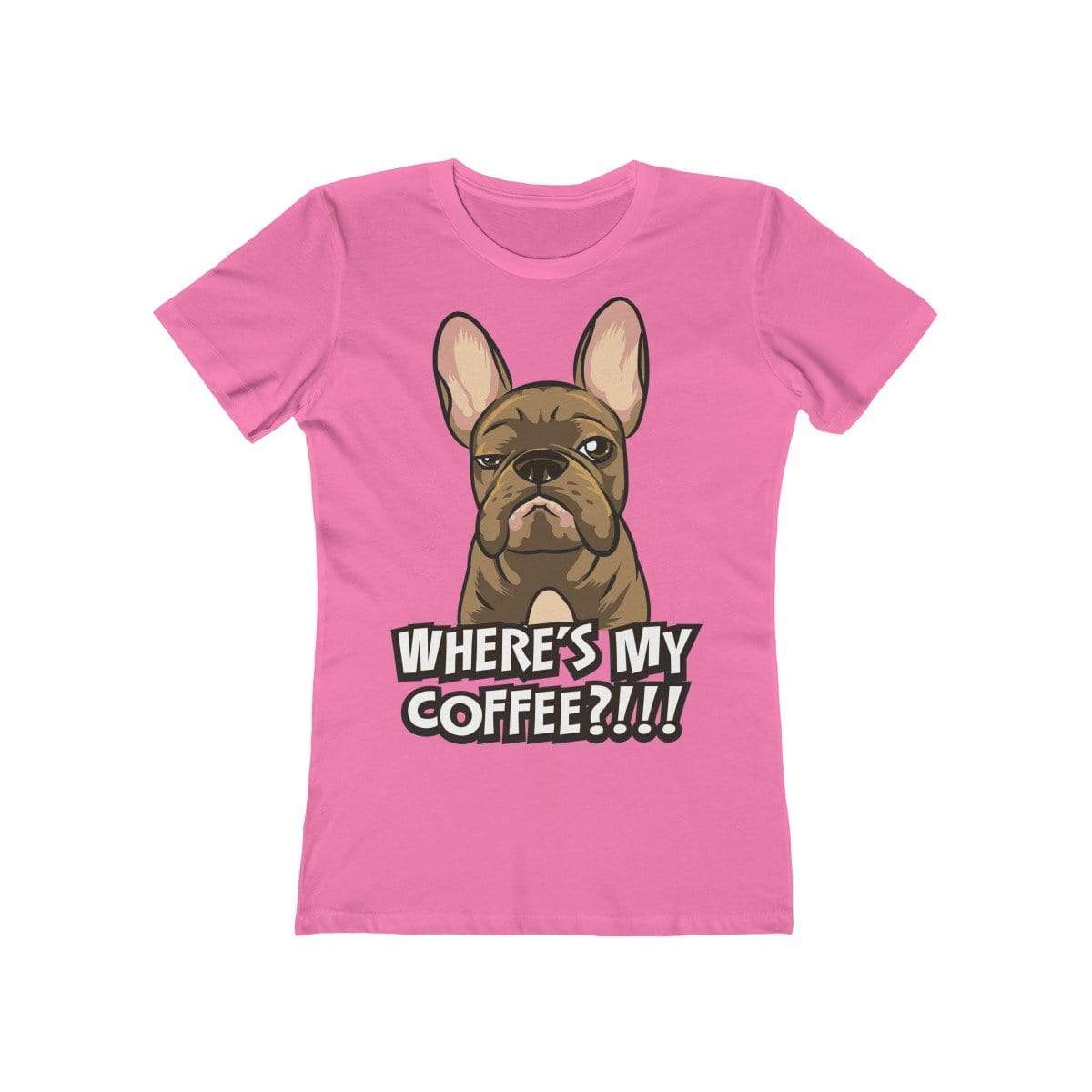 Printify T-Shirt Solid Hot Pink / S Where's My Coffee Women's Tee