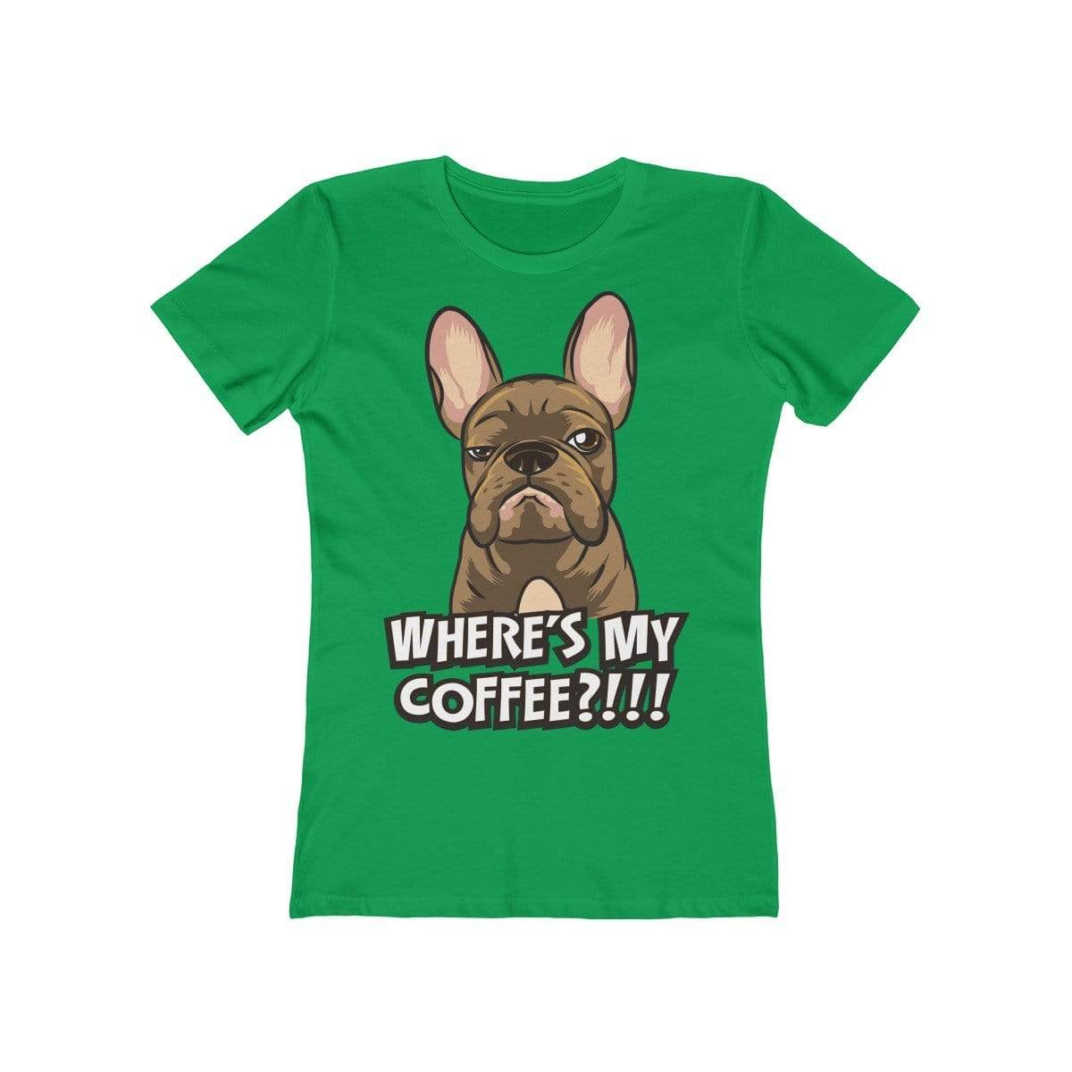 Printify T-Shirt Solid Kelly Green / S Where's My Coffee Women's Tee