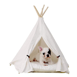 Frenchie World Shop White Frenchie tent (with Cushion )