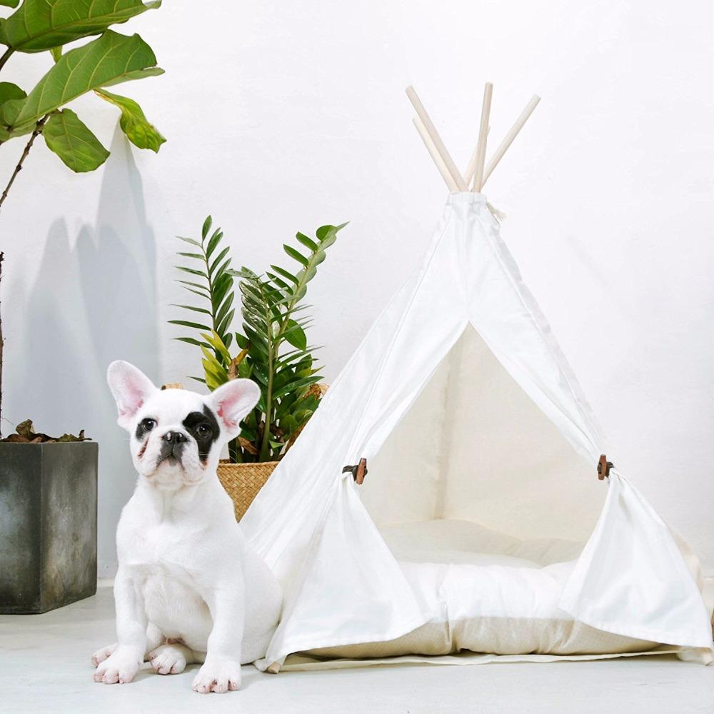 Frenchie World Shop Only Tent / 60X50cm White Frenchie tent (with Cushion )