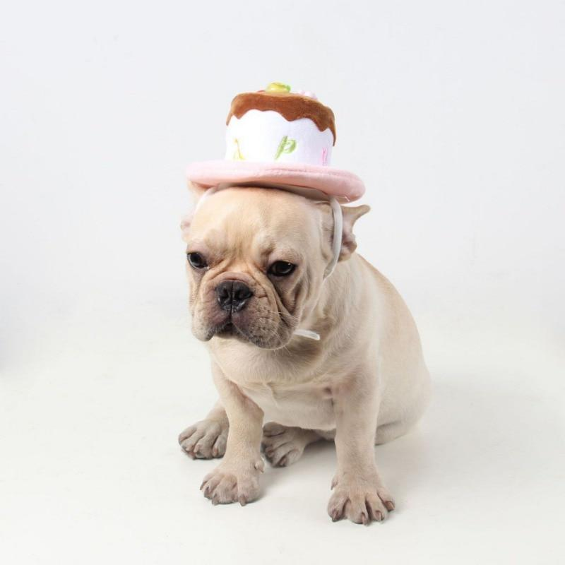 Frenchie World Shop Winter Dog Cake Christmas Birthday Hats Warm Puppy Hat Cap For Puppy Dog Cat Xmas Supplies Cat Dog Accessories For Small Dogs