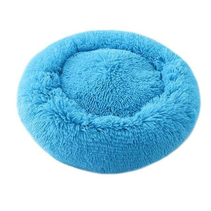 Frenchie World Shop Blue / 50x50cm Winter New Rainbow Dog Bed For Small Medium Large Dog Cat Soft Plush Lounger Round Kitten Puppy Dog Bed Mat Pet Dog Kennel