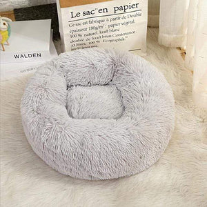 Frenchie World Shop Light Grey / 40x40cm Winter New Rainbow Dog Bed For Small Medium Large Dog Cat Soft Plush Lounger Round Kitten Puppy Dog Bed Mat Pet Dog Kennel