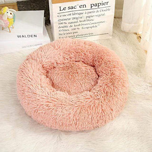 Frenchie World Shop Pink 2 / 50x50cm Winter New Rainbow Dog Bed For Small Medium Large Dog Cat Soft Plush Lounger Round Kitten Puppy Dog Bed Mat Pet Dog Kennel
