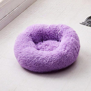 Frenchie World Shop Purple / 50x50cm Winter New Rainbow Dog Bed For Small Medium Large Dog Cat Soft Plush Lounger Round Kitten Puppy Dog Bed Mat Pet Dog Kennel