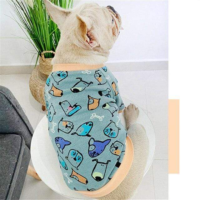 Frenchie World Shop Blue / 4XL Winter Pet Dog Outfit Hoodie Cat Yorkshire Poodle Bichon Schnauzer Pug Clothes French Bulldog Clothing Welsh Corgi Dog Costume