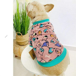 Frenchie World Shop Pink / 4XL Winter Pet Dog Outfit Hoodie Cat Yorkshire Poodle Bichon Schnauzer Pug Clothes French Bulldog Clothing Welsh Corgi Dog Costume