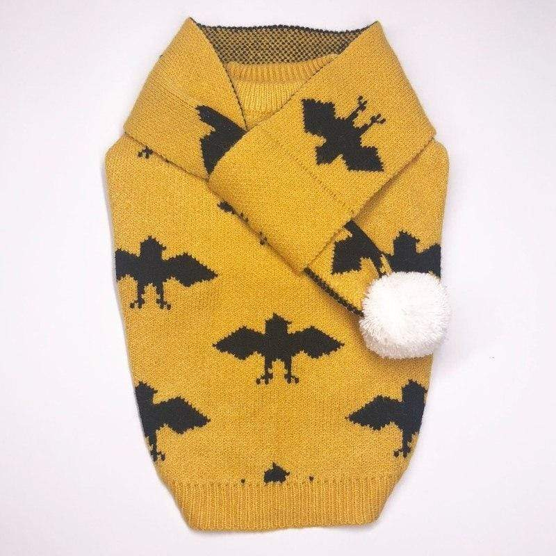 Frenchie World Shop Winter Sweater With Matching Scarf