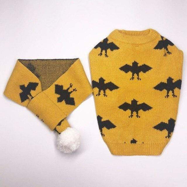 Frenchie World Shop Yellow / XS Winter Sweater With Matching Scarf