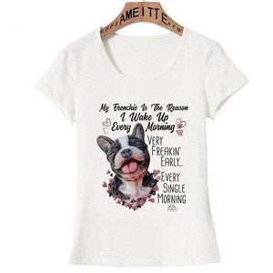 Frenchie World Shop Z8411 / L Woman Funny French Bulldog T-Shirts