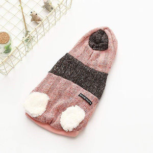 Frenchie World Shop pink / XS Woolen Zipper Hooded Vest