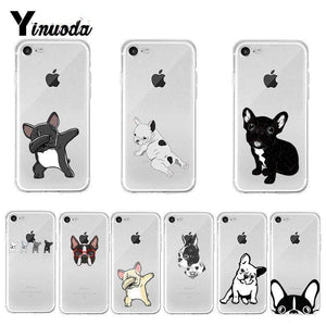 Frenchie World Shop Yinuoda Cute Brindle Frenchie Puppy Colorful Cute Phone Accessories case for iPhone 8 7 6 6S Plus X XS MAX 5 5S SE XR 11 pro max