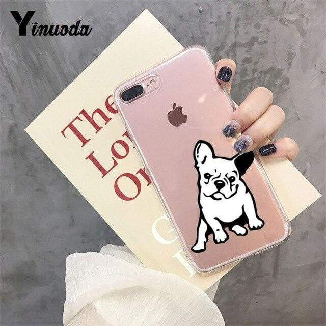 Frenchie World Shop For iphone 11 pro / 8 Yinuoda Cute Brindle Frenchie Puppy Colorful Cute Phone Accessories case for iPhone 8 7 6 6S Plus X XS MAX 5 5S SE XR 11 pro max