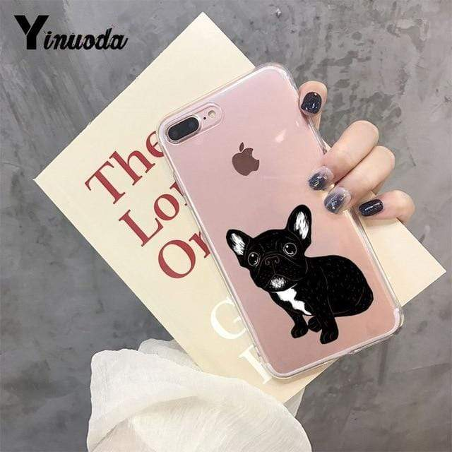 Frenchie World Shop For iPhone 5 5s SE / 3 Yinuoda Cute Brindle Frenchie Puppy Colorful Cute Phone Accessories case for iPhone 8 7 6 6S Plus X XS MAX 5 5S SE XR 11 pro max