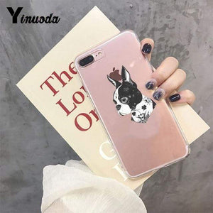 Frenchie World Shop For iPhone 5 5s SE / 7 Yinuoda Cute Brindle Frenchie Puppy Colorful Cute Phone Accessories case for iPhone 8 7 6 6S Plus X XS MAX 5 5S SE XR 11 pro max