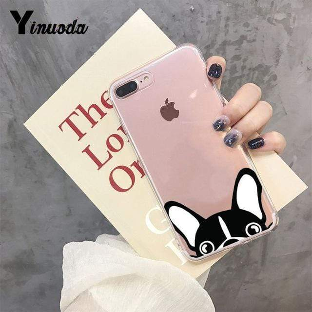 Frenchie World Shop For iPhone 5 5s SE / 9 Yinuoda Cute Brindle Frenchie Puppy Colorful Cute Phone Accessories case for iPhone 8 7 6 6S Plus X XS MAX 5 5S SE XR 11 pro max