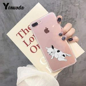 Frenchie World Shop For iPhone 6 6s / 2 Yinuoda Cute Brindle Frenchie Puppy Colorful Cute Phone Accessories case for iPhone 8 7 6 6S Plus X XS MAX 5 5S SE XR 11 pro max