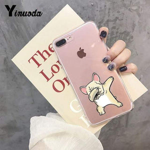 Frenchie World Shop For iPhone 6 6s / 6 Yinuoda Cute Brindle Frenchie Puppy Colorful Cute Phone Accessories case for iPhone 8 7 6 6S Plus X XS MAX 5 5S SE XR 11 pro max