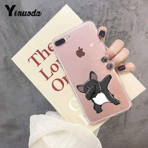 Frenchie World Shop For iphone X or XS / 1 Yinuoda Cute Brindle Frenchie Puppy Colorful Cute Phone Accessories case for iPhone 8 7 6 6S Plus X XS MAX 5 5S SE XR 11 pro max