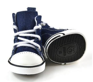 Limited Edition Denim Blue Dog Shoes