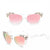 Lucite/Rose Gold Star Sunnies