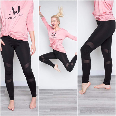 Mesh Active Leggings