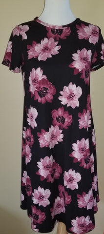 Naples Dress- Black Mauve