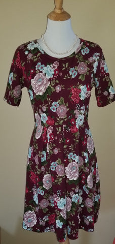 Savannah Dress- Crimson Plum