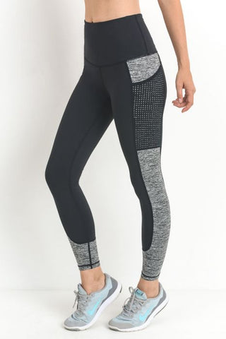 Gray Block Gym Leggings