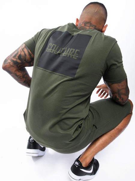 Shop Fresh Couture Block Strike T-Shirt In Olive