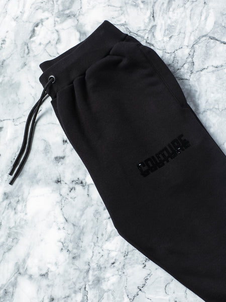 Official Fresh Couture Velour Strike Jogger In Black