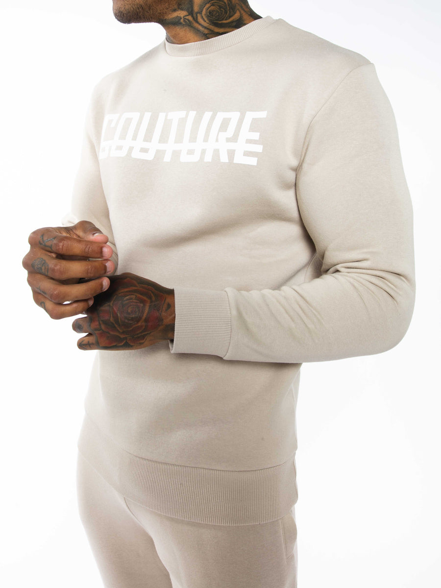 OFFICIAL FRESH COUTURE™ Strike OG Sweatshirt Almond 'White Pack' Sweatshirts