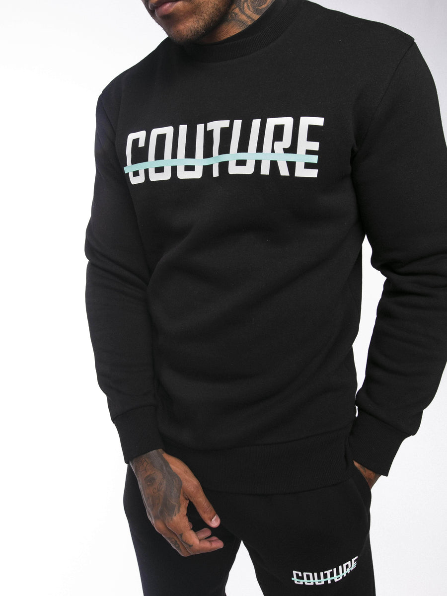 OFFICIAL FRESH COUTURE™ Strike OG Sweatshirt Black/Aqua 'Public Vote Pack' Sweatshirts