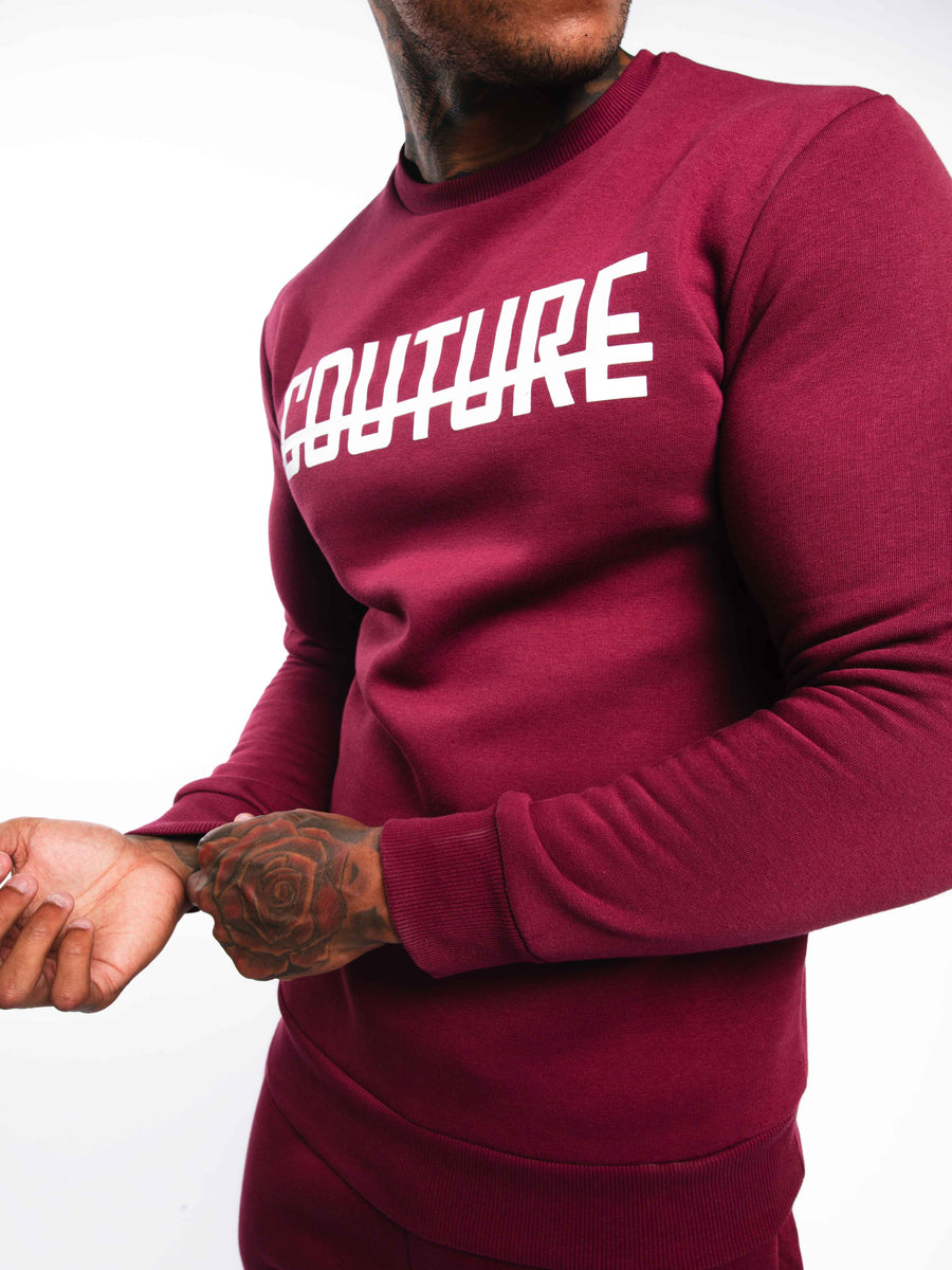 OFFICIAL FRESH COUTURE™ Strike OG Sweatshirt Burgundy 'White Pack' Sweatshirts