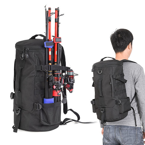 Outdoor Fishing Trekking Bag w/ Rod Holders