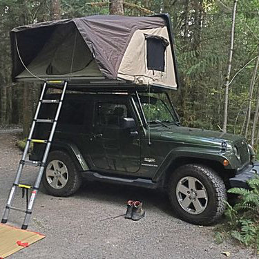 The Skyc& feels like it was made for my 2 door Jeep JK Wrangler. Mounting it on the Kargo Master Congo Cage roof rack was a breeze the adjustable ... & The Skycamp gets attention! - Ron Z (Skycamp Canvas)
